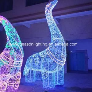 China giant led dinosaur outdoor christmas decorations wholesale
