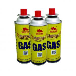 China Small portable 220g-250g pure butane gas can for stove with DOT on sale