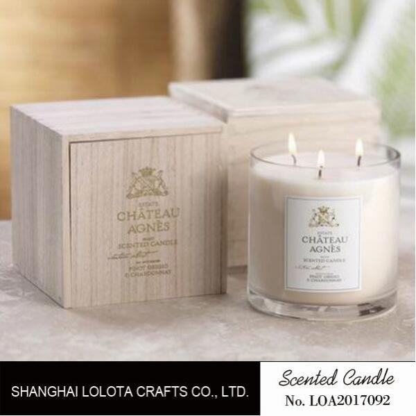 Luxury Three Wick Scented Candles , Multi Colored Soy Wax ...
