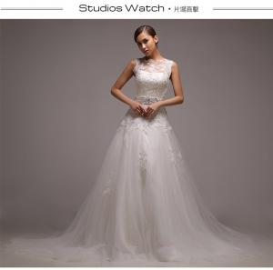 China Beaded Vintage Lace illusion neckline Wedding Dresses tulle with long trains on sale