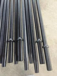 China 7/11/12 Degree Tapered Drill Rod With Hexagonal Steel Length Small Drilling Hole on sale