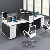 MDF Surface With 45 Degree Inclining Office Workstation Desk For Staff Area