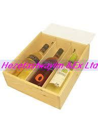 China cheap wood wine box on sale