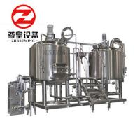 Bright 600l Micro Brewing Systems With Fermentation Tanks PLC Controlled