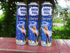 China 6 Color Printing Snow Spray Cans , Graffiti Spray Paint Cans Straight Body on sale