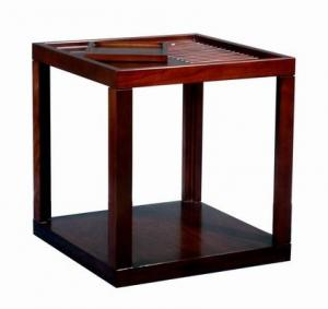 China Rubber Wood  Square Side Coffee Table For Hotel Square End Table on sale