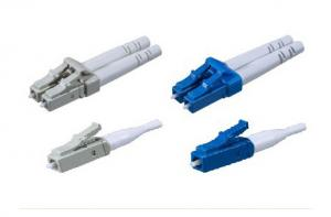 China LC Single Mode Or Multi Mode LC Fiber Optic Connector UL-rated Plastic Housing And Boot on sale