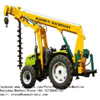 China Large Ford Tractor Post Hole Digger , Deep Compact Tractor Post Hole Digger on sale