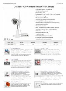 China Onvif IR Bullet Camera HD 720P Wireless With Plug And Play on sale