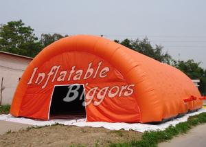 China Rental Advertisement Orange Inflatable Dome Tent Marquee With Digital Inkjet Printing on sale