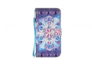 China Crystal Blue Floral Samsung Galaxy Phone Cases Tpu Material Shatter Resisting on sale