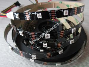 China full color led strip apa102 48LED/m black white pcb on sale