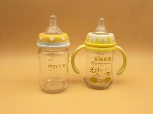 China High Transparent Small Nipple Baby Bottles , Baby Feeder Bottles 180ml PP Handle on sale