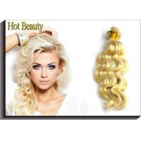 China Hot Beauty Russian Virgin Human Hair Extensions Body Wave Remy Hair Weft Color 613 on sale