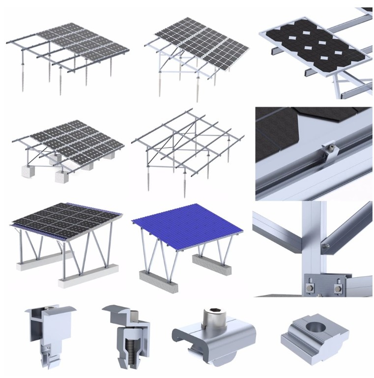Solar Electricity 150kw Solar Power System Mounting Structure For Sale Flat Roof Solar Mounting System Manufacturer From China 108804851