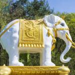 China Suppliers Large Fiberglass Molds Wild Animal Elephant Statue
