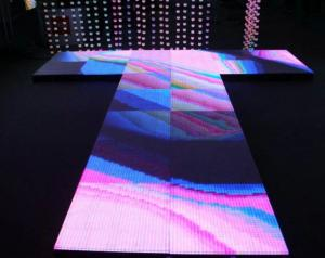 China Advertising Stage Dance Floor LED Display / LED Light Up Dance Floor Hire on sale