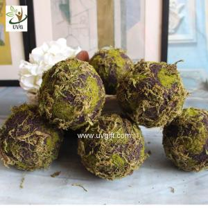 China UVG arts and crafts artificial moss ball fake garden stone for wedding event decoration GRS043 on sale