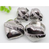 China Rhinestone jewelry set on sale