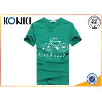 Round Collar Custom Embroidered T Shirts Slim Fit  Pattern Printing