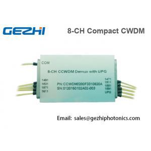 China Fiber CWDM Mux Demux 1x8 Channels optical Multiplexer Mini Size on sale