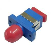 Hybrid FC / SC / LC Fiber Optic Adapter Single Mode Pc Material For CATV System
