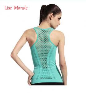 China Women Yoga Shirts Tops Women Fitness Sports Woman Gym Clothes Sport Shirt For Gym Running Mujer Running Shir on sale