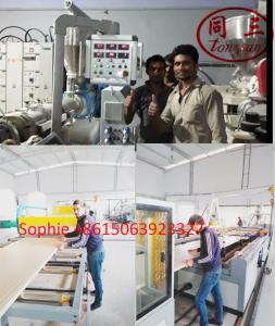 China wood plastic PVC WPC hollow door panel making machine production line on sale