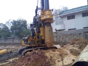 Small Hydraulic Piling Rig KR60C for Drilling 24m Depth