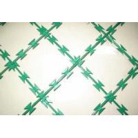 China PVC Coated Galvanized Razor Barbed Wire Mesh Fence Single Twist Method on sale