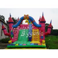 Safe CE Outdoor Inflatable Slip N Slide For Rent , Childrens / Adult Bouncy Castles