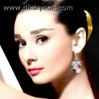 modeschmuck Costume handmade earrings for women Crystal jewellery chandelier earrings pulicrystal-071