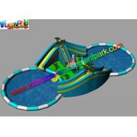 Adults Giant Inflatable Water Parks Funny Customized With Pool Slide