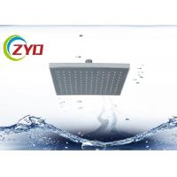 China 200 X 200mm Overhead Rain Shower Head , Chrome Plated Water Saving Shower Head on sale