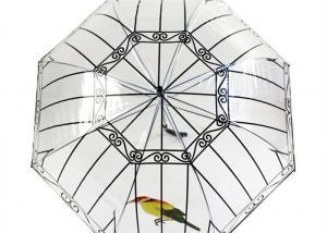 China Apollo Transparent Rain Umbrella Bird cage custom long handle thickened poe on sale