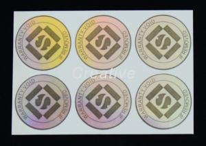 China Transparent PP / PVC / PET 3D Hologram Sticker Glossy varnish Holographic Labels on sale