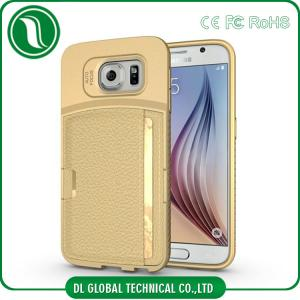 China Slim Samsung Galaxy S6 Leather Case , Phone Case With Credit Card Slot on sale