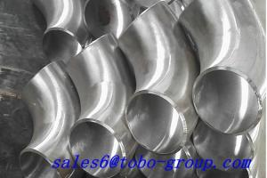China Long Radius 90 Degree Titanium Elbow 1.5D 3 1/2'' SCH 80 Ti Alloy R50550/GR.3 ASTM on sale