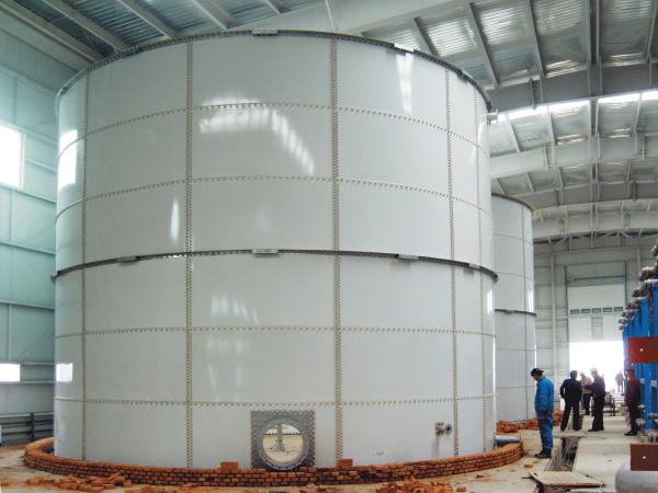 Lightweight Bolted Steel Water Storage Tanks 2 Layer Glass Coating