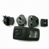 KTEC 25W KSAFF Series interchangeable plugs power adapter with EN 60950-1 UL60950-1