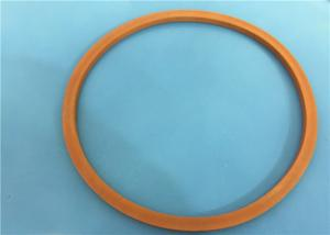 China PTFE Sealed Plastic Molded Parts Smooth Surface Brown Magnetic  Ring on sale