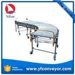 Flexible Gravity Roller Conveyor,Expandable No Power Roller Conveyor