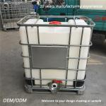 White and black 1000 litre ibc liquid shipping container