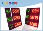 Several Lines LED Gas Price Sign With One Remote Controller CE / ROHS Approved