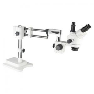 China Binocular Boom Stand Stereo Zoom Microscope Double Arm For PCB Inspecition on sale