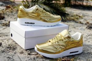 quality design 24733 f70df ... authentic nike airmax 1 sp liquid gold running shoes liquid silver  sneakers for men and women