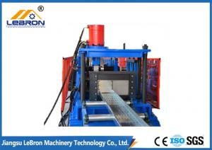 China Blue Color PLC Control Automatic Cable Tray Roll Forming Machine Long Time Service on sale