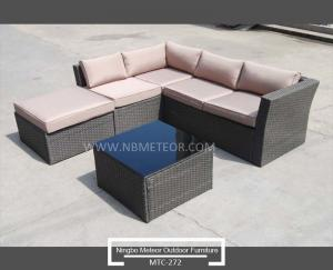 China Best Seller Outdoor Rattan Wicker Leisure Bounce Chair Lounge Set PE Rattan Hotel Furniture on sale