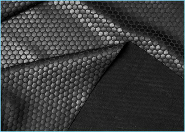 Hexagon Pressed Film Leather Spandex Fabric Soft
