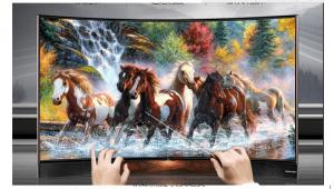 China 4K LCD Curved Television Screens Super High Definition TV 70 Inch on sale